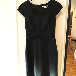 Banana republic wool career suiting dress black